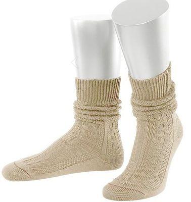 short ladies Trachten socks stockings braided look, Colour :Light Brown