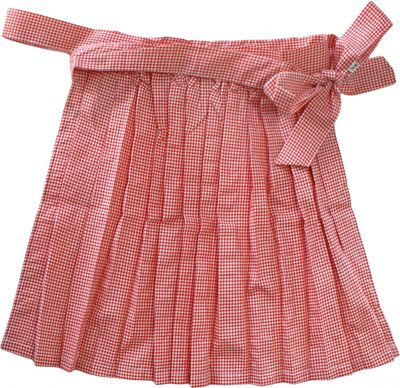 mini Dirndl Apron Traditional Apron, Colour: Red Checkered Small, German Wear – image 2