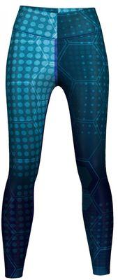 Blue Galaxy Texture Leggings sehr dehnbar für Sport, Gymnastik, Training, Tanzen & Freizeit – Bild 1