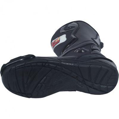 German Wear, Biker Motorradstiefel Motorrad Sport Touring Stiefel Schwarz 32cm – Bild 5