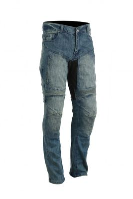 Motorbike Denim Jeans replaceable removable Protectors black – image 1