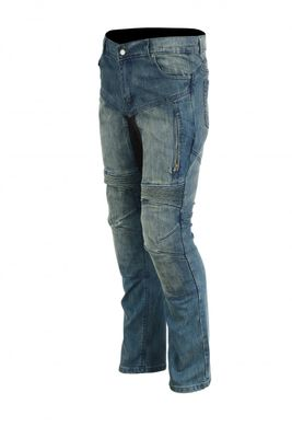 Motorbike Denim Jeans replaceable removable Protectors black – image 2