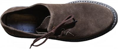 Bavarian Traditional Haferl Lederhosen Shoes,Cow Suede leather,Color:Dark Brown – image 8