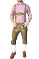 Knee Lenght Pants/ Breeches With Suspenders, Colour:Light Brown