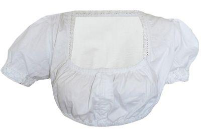Bavarian Dirndl Blouse,Short Blouse, Colour:White
