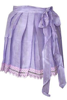 Dirndl Apron ,Traditional Apron, Silk Apron,Colour: Purple