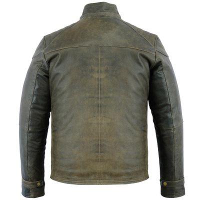 German Wear, Biker Fashion Leather Jacket made of Cracker Leather