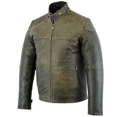 German Wear, Biker Fashion Leather Jacket made of Cracker Leather – image 2