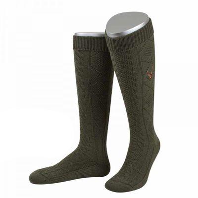 Long Hunting Knee Socks, Stockings,Color: Olive Green