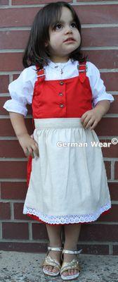 Mädchen Kinderdirndl rot