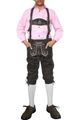 Boys Knee Lenght Pants/ Breeches, Suspenders,Color: Dark Brown