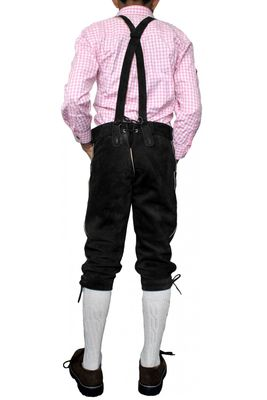 Boys Knee Lenght Pants/ Breeches, Suede Leather, Color:Black – image 3