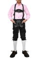 Boys Knee Lenght Pants/ Breeches, Suede Leather, Color:Black