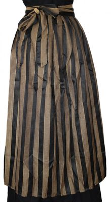 Long Dirndl Apron ,Traditional Apron, Colour: Black and Golden – image 2