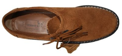 Bavarian Traditional Haferl Shoes ,Color: Chestnut – image 4