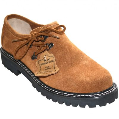 Bavarian Traditional Haferl Shoes ,Color: Chestnut