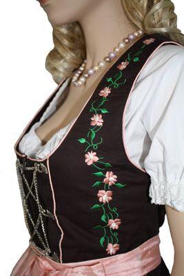 Three Pieces Mini-Dirndl Set, Bavarian Dress Oktoberfest,Color:Pink – image 4