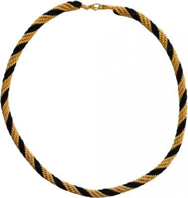 Trachtenkordel Kordel Kette Anhänger Metall schwarz gold Trachten