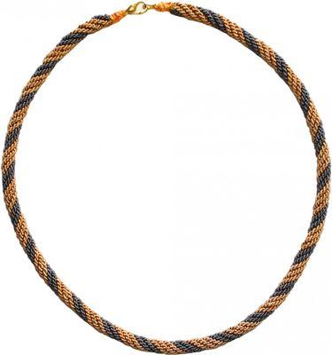 Trachtenkordel Kordel Kette Anhänger Metall gold grau Trachten – image 1