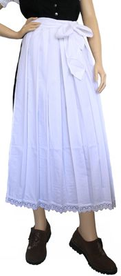 Apron for Long Dirndl ,Traditional Apron, Colour: White – image 2
