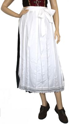 Apron for Long Dirndl ,Traditional Apron, Colour: White – image 1
