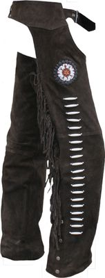 Western Leather Indian Chaps Pants ,Western Carnival Fasching, Color:Dark Brown – image 2