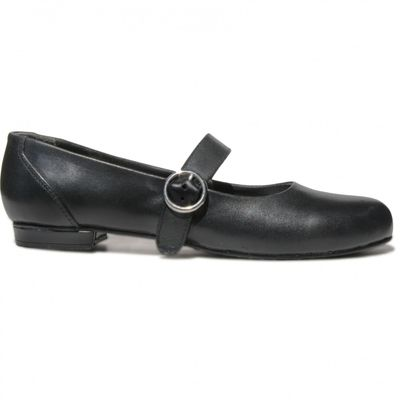 Bavarian Traditional Shoes / Ladies Shoes, Glazed Leather,Color: Black – image 2