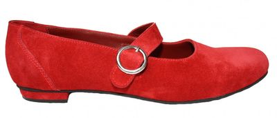 Ladies Bavarian Traditional Shoes, Suede Leather, Color: Dark Red – image 1