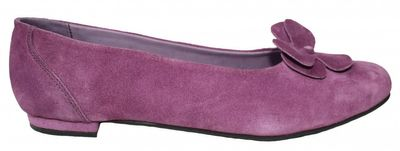 Ladies Bavarian Traditional Shoes , Suede Leather, Color:Purple with Blossom