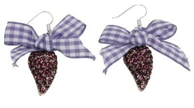 Multiple  Paste Gems Metal,Ear Jewellery,Color:Purple