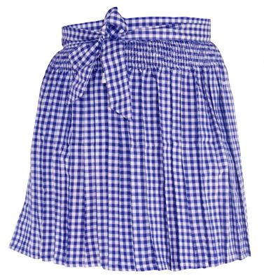 Apron For Mini Dirndl ,Traditional Apron, Colour: Blue Checkered – image 3