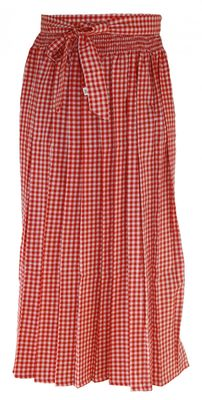 Apron For Long Dirndl ,Traditional Apron, Colour: Red Checkered – image 1