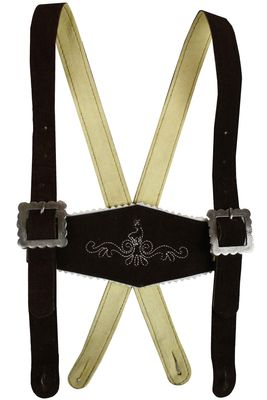 Boys Leather Suspenders, Classic Design,Color: Dark Brown – image 3