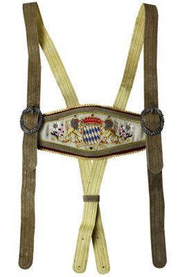 Leather Suspender With Bavarian Emblem – image 6
