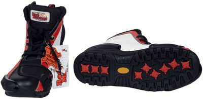 Motorbike Racing Sport Boots colour black/white/red – image 3