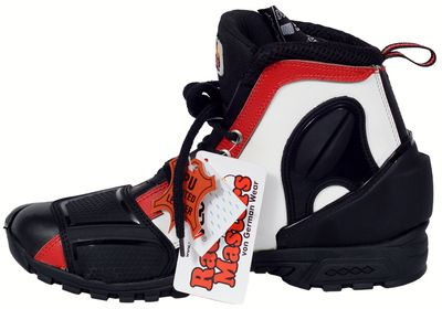 Motorbike Racing Sport Boots colour black/white/red – image 4