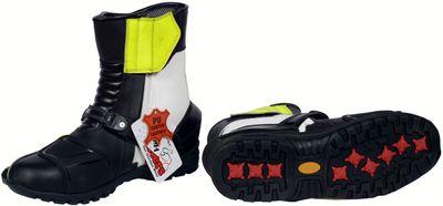 German Wear, Biker Motorradstiefel Motorrad Sport Touring Stiefel Gelb, Orange, Blau, Grau 25cm – Bild 11