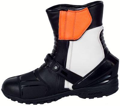 German Wear, Biker Motorradstiefel Motorrad Sport Touring Stiefel Gelb, Orange, Blau, Grau 25cm – Bild 5