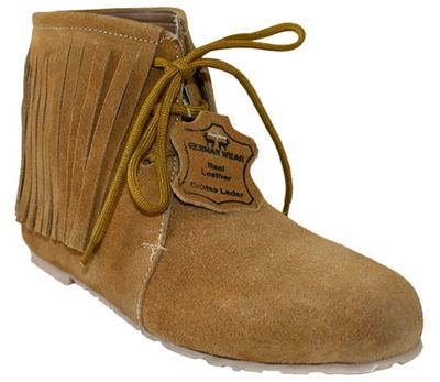 Traditional Indian Shoes Made Of Suede Leather ,Color:Ochre – image 2