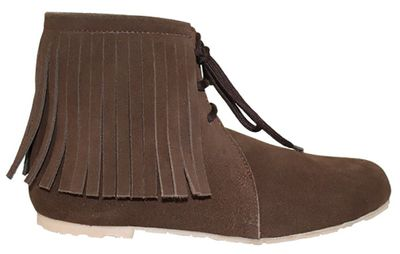 Traditional Indian Shoes Made Of Suede Leather ,Color:Dark Brown