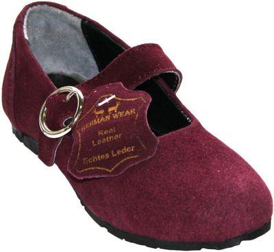 Bavarian Traditional Shoes, Kids Shoes ,Color: Purple – image 1