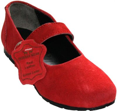 Bavarian Traditional Shoes, Kids Shoes ,Color: Red  Colour:  pink – image 1