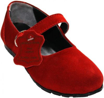 Bavarian Traditional Shoes, Kids Shoes ,Color: Red – image 1