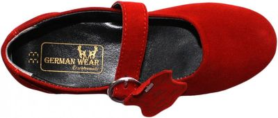 Bavarian Traditional Shoes, Kids Shoes ,Color: Red – image 2
