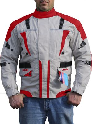 German Wear, Cordura textil Motorcycle jacket combinable Red/Anthracite – image 1