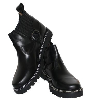 Western Chopper Motorcycle shoes Boots real leather black – image 3