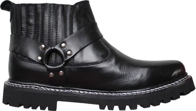 Western Chopper Motorcycle shoes Boots real leather black – image 1