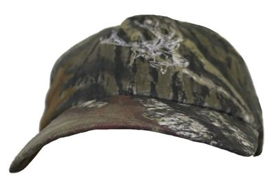 Textile Hunting Cap Forest Pattern Stitchery – image 2