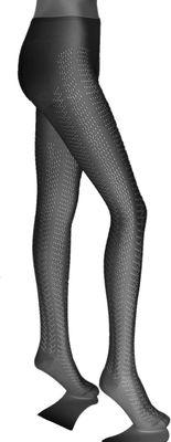 Ladies pantyhose strumpfhose Trachten socks strümpfe Braided design Black