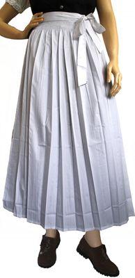 Apron for Long Dirndl Traditional Apron, Colour: White
